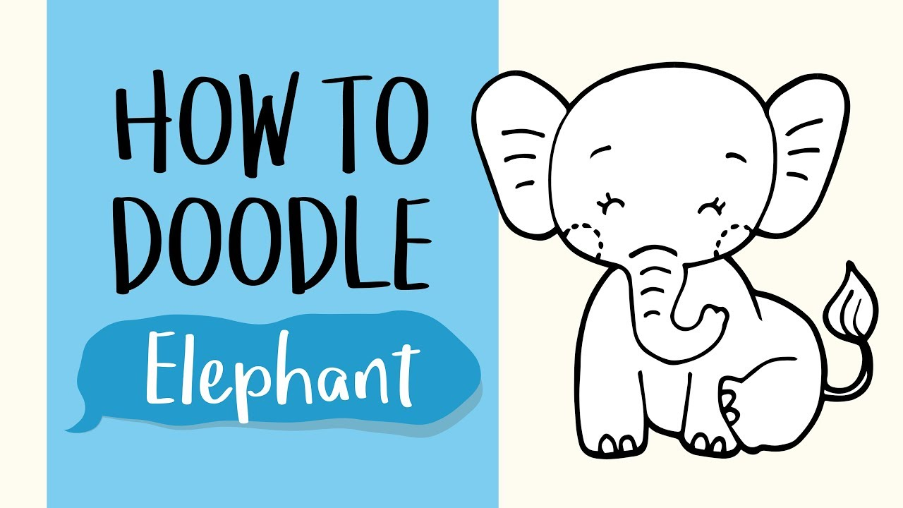 How To Draw Elephant Easy Step By Step Drawing Tutorial