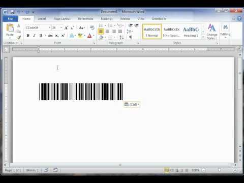How to create a barcode in Word for free? - YouTube