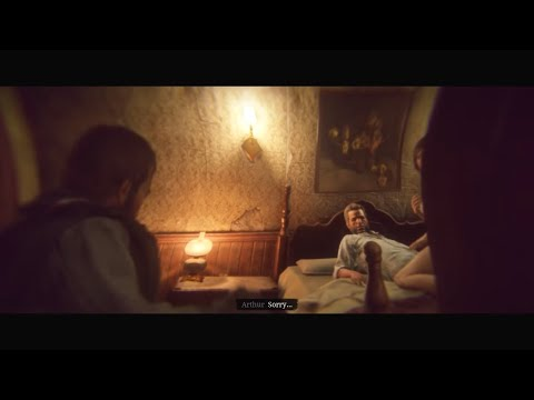 Red Dead Redemption 2 - Drinking With Lenny & Secret Room Cutscene (RDR2 2 Secret Scenes) PS4 Pro