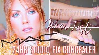 NEW MAC 24HR STUDIO FIX CONCEALER | Wear Test (Oily Skin), Demo & Swatches