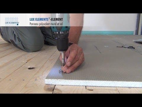 LUX ELEMENTS Montage : ELEMENT - Panneau polyvalent sur plancher bois