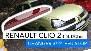 Renault Clio 2 1.5 DCI 65cv - Changer 3ème feu stop + diagnostique électrique