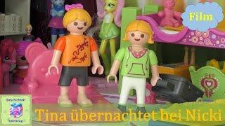 Playmobil Film Deutsch TINA ÜBERNACHTET BEI NICKI ♡ Playmobil Geschichten mit Familie Miller