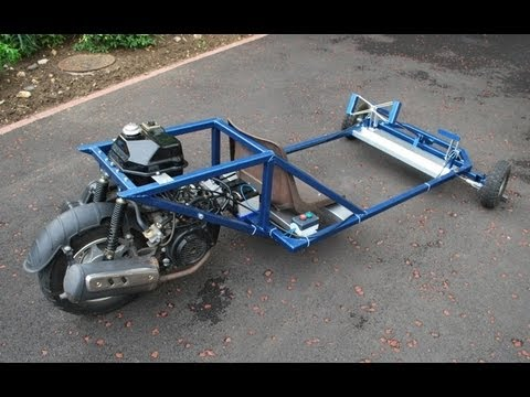 Homemade Reverse Trike Go Kart Youtube