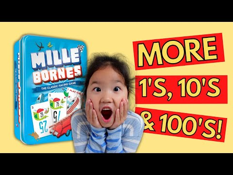 Gameschooling Maths | More PLACE VALUE and Addition for Grade 2: MILLE BORNES Card Game |