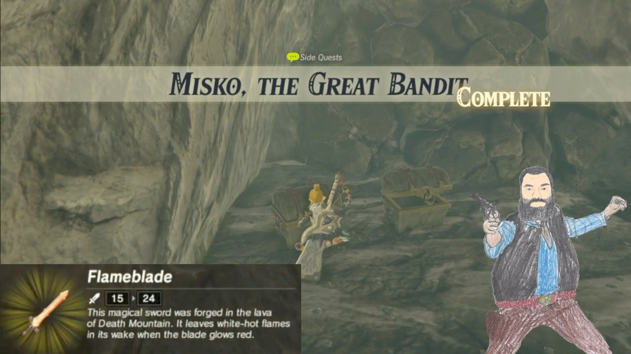 Misko The Great Bandit Zelda >> TREASURE OF MISKO THE GREAT BANDIT - Breath of the Wild - YouTube