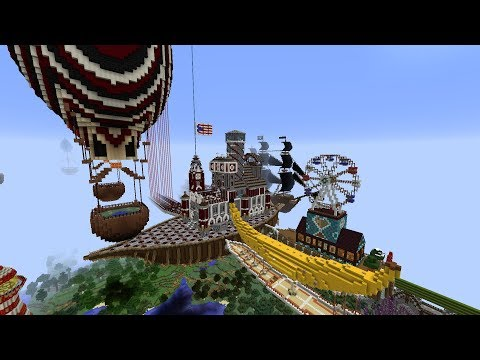 Minecraft | Epic Build | The Docked Airship Fleet!