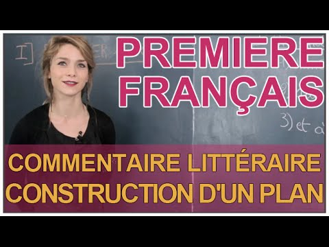 Commentaire litt raire construction d 39 un plan fran ais for Comment concevoir un plan de construction
