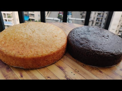 Perfect Vanilla sponge for icing and cake decoration- Homemade and Premix