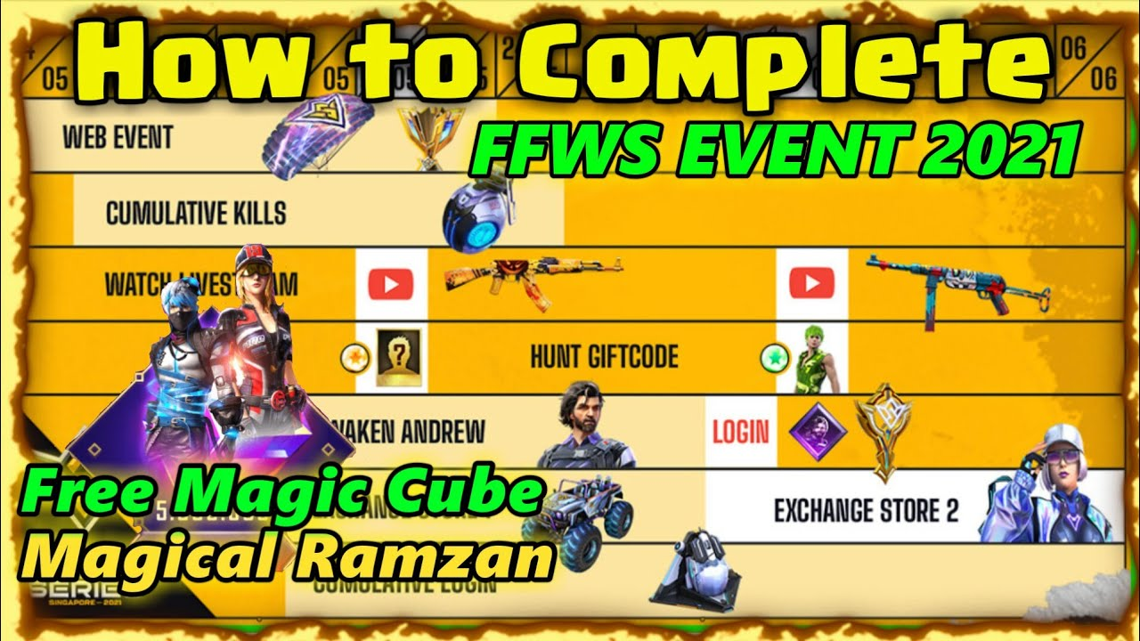 HOW TO COMPLETE FFWS EVENT 2021 | FFWS EVENT FREE FIRE | MAGICAL RAMZAN MAGIC CUBE CLAIM | FREE FIRE
