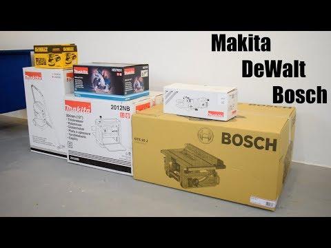 Unboxing my new Tools -  Makita, DeWalt, Bosch