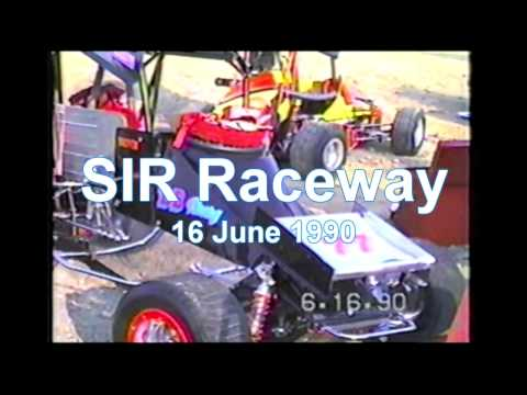 SIR Midget Car Races in Marion Illinois, Midget Sprint Cars racing on this circle track.