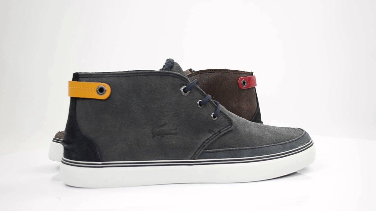 Lacoste Clavel Dark Brown Mens Sneakers