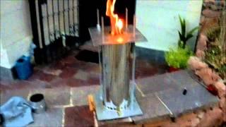 Repeat youtube video Pyrolytic stove   Stufa pirolitica