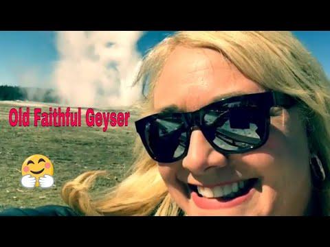 OLD FAITHFUL GEYSER ERUPTION! Yellowstone National Park