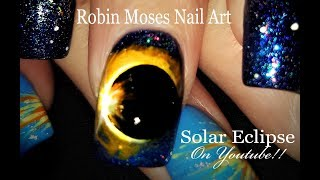 Solar Eclipse 2017 Nails! A Hollow Moon shadowing our Sun? Unbelievable! Nail Art Design Tutorial