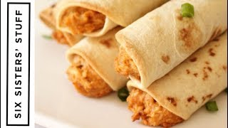 Slow Cooker Cheesy Chicken Taquitos | Six Sisters Stuff