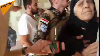 بالفيديو...امرأة عراقية تاريخية صمدت بوجه