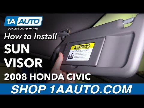 How to Replace Sun Visor Drivers Side 06-08 Honda Civic