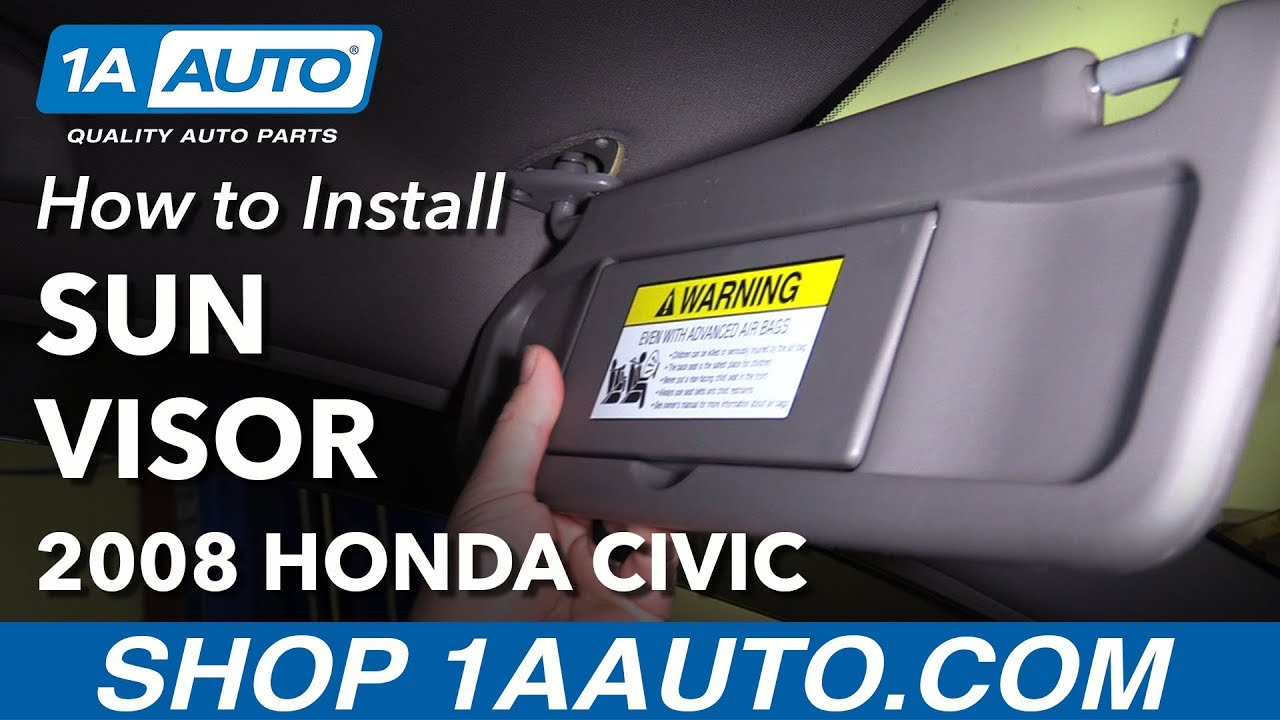 How to Install Replace Sun Visor Drivers Side 2006-08 Honda Civic ... 1595e9f3fcd