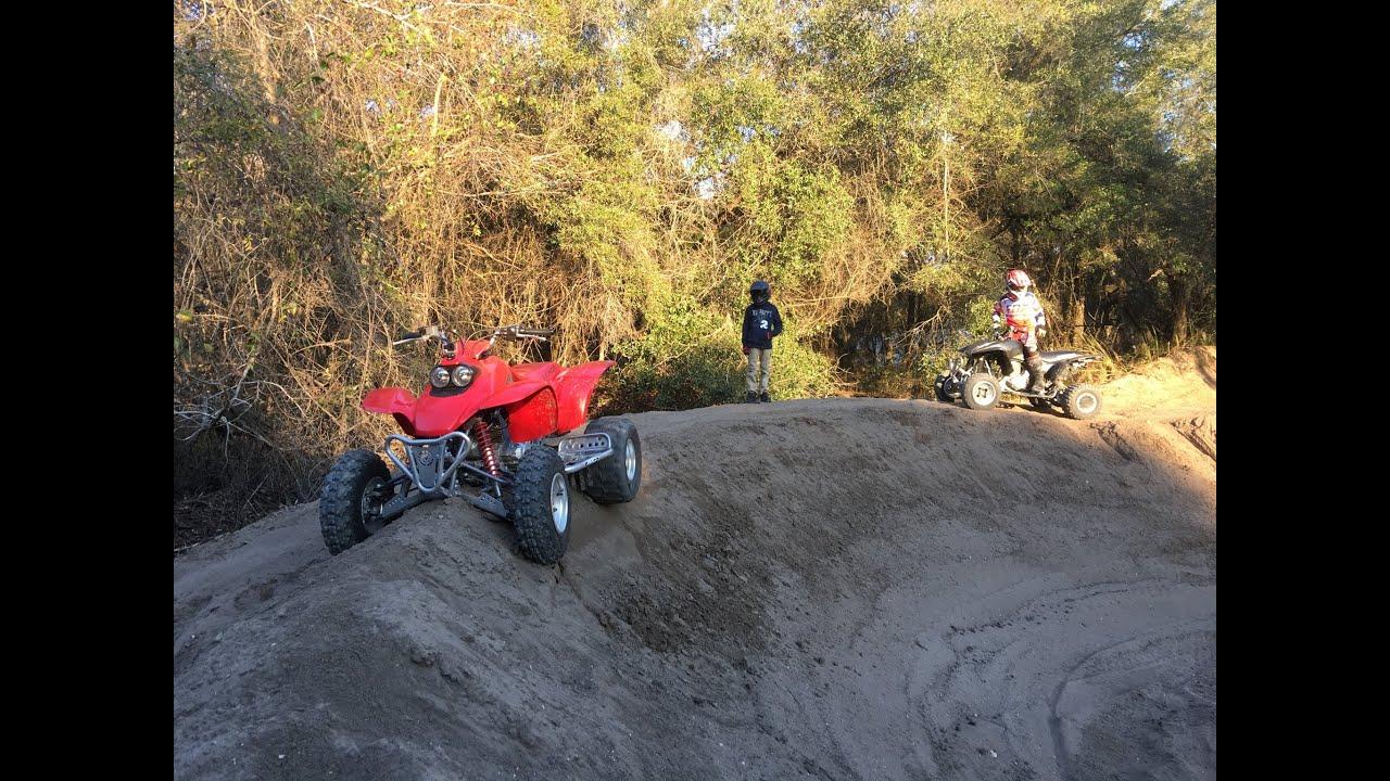 Honda 400ex & trx 90 ATV riding at croom motorcycle area Feb. 2016 Brooksville Florida - YouTube