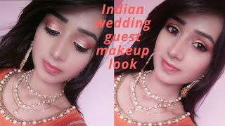 Indian wedding guest makeup|| Jazz Beauty World