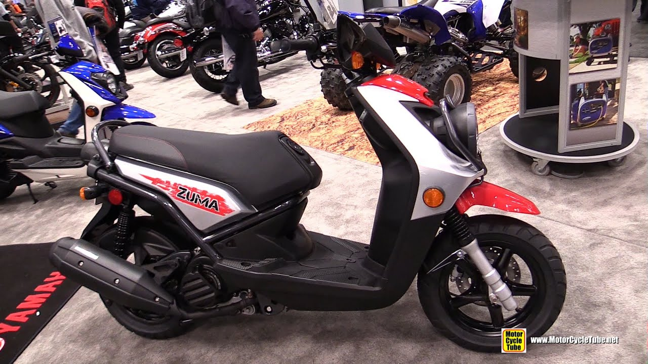 yamaha zuma 125. 2015 yamaha zuma 125 scooter - walkaround 2014 new york motorcycle show youtube