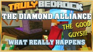 Truly Bedrock S1 EP24 The Diamond Alliance The Good Guys! Minecraft Bedrock Edition SMP (MCPE, MCBE)