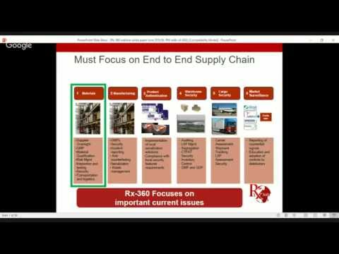 Rx-360 Upstream Supply Chain Mapping Webinar