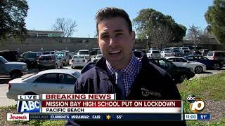 Mission Bay High School placed on lockdown