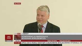 Bogdan Borusewicz: nie spierajmy się o historię wokół sierpnia '80 (TVP Info, 24.05.2013)