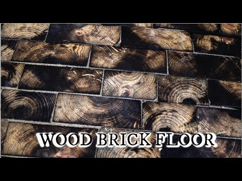 Making a wood brick floor for our blacksmith shop