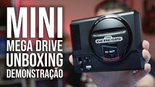 MINI MEGA DRIVE - Unboxing e Demonstração do Mini Sega Genesis!