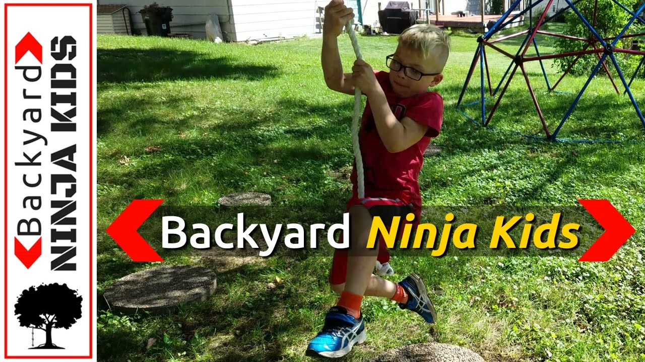 kids ninja warrior course in backyard simple diy youtube