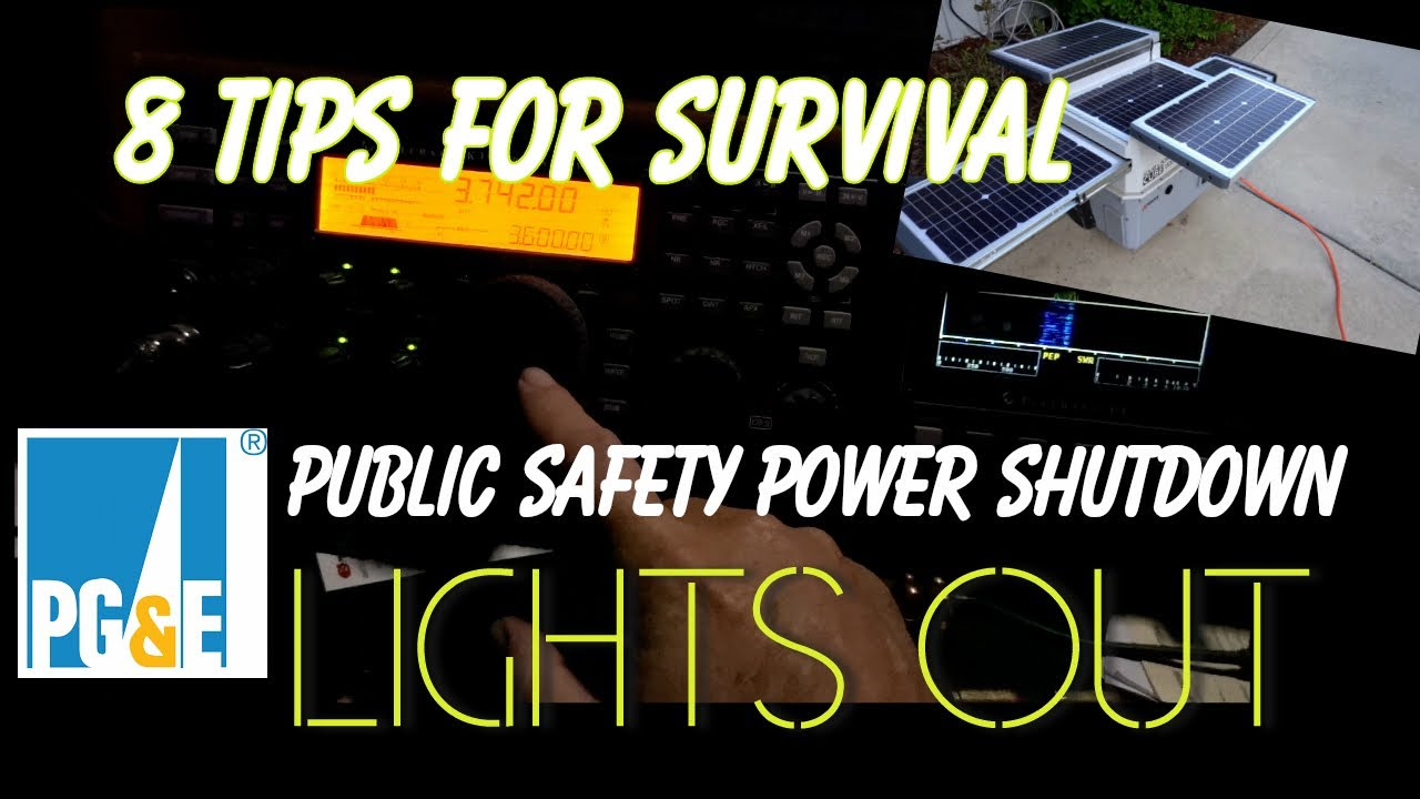 8 tips to survive the next pg&e power blackout | new rf noise baseline on  40 meters