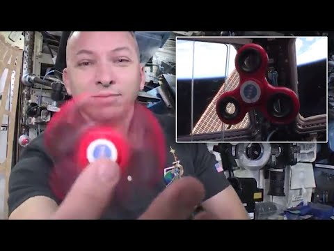 NASA Astronaut Tests How Long a Fidget Spinner Lasts in Spac
