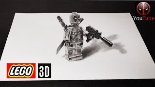 КАК нарисовать Deadpool  Lego 3D ПРОСТЫМ КАРАНДАШОМ 🔫(В этом видео показано как нарисовать ( ДЕДПУЛА ) Deadpool Lego 3D простым карандашом. Объемный 3D рисунок удивительн..., 2016-10-14T05:00:00.000Z)