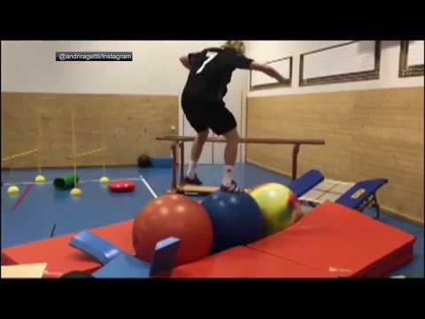 Swiss skier executes insane workout | ESPN