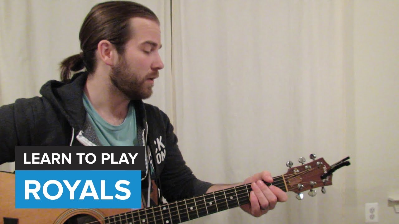 How To Play Royals By Lorde Guitar Chords Lesson Youtube