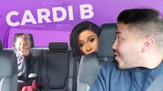 Carpool Karaoke with 6 Year Old & CARDI B