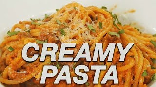 Easy Creamy Pasta Recipe- Red Sauce Tutorial