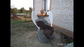 Кресло из пластика и бетона, финал - Armchair made of plastic and concrete, final