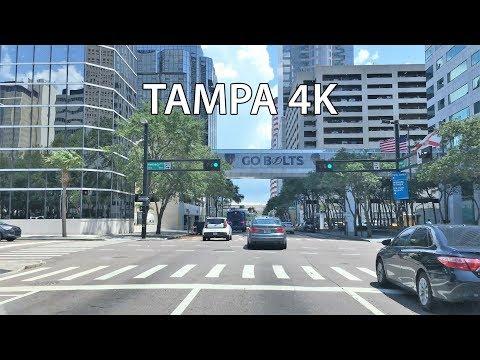 Driving Downtown - Tampa 4K - USA