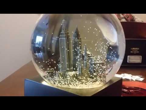 """Christmas to me"" NYC snow globe"