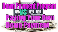 Down Payment Program VS Paying Your Own?