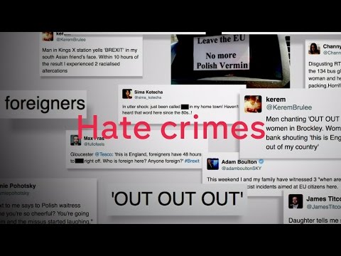 Rise in reports of race hate crimes since referendum result