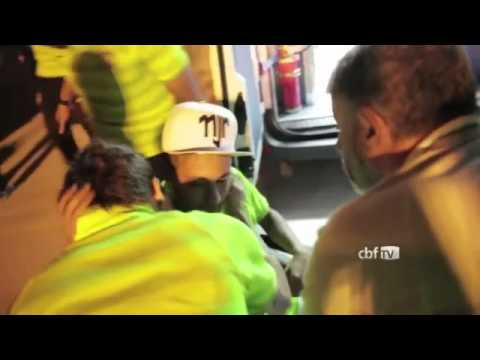 FIFA Worldcup 2014 Neymar back injury after hit by Zuniga Brazil vs Colombia 2-1