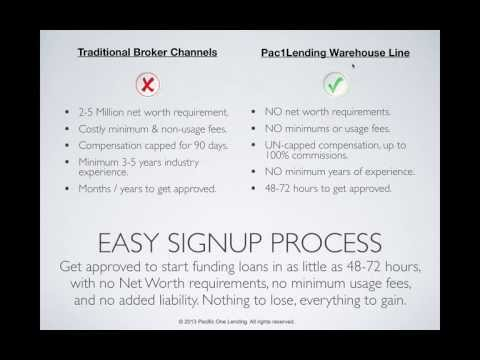 Warehouse Lines For Mortgage Brokers (Pacific One Lending)