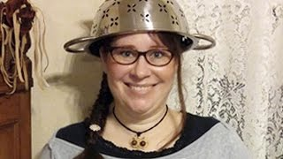Pastafarian Wins Right to Wear Strainer on Head in License Photo