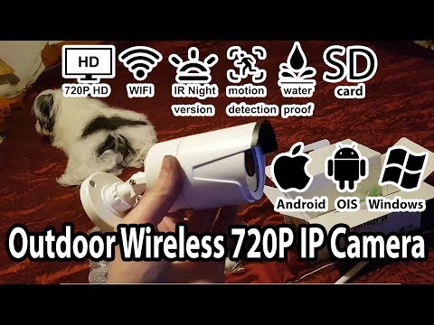Outdoor Wireless HD 720P IP Camera Unbox & Review ft Apumies